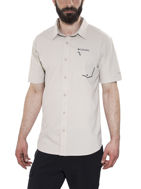 Columbia Twisted Creek Short Sleeved Shirt Men fossil